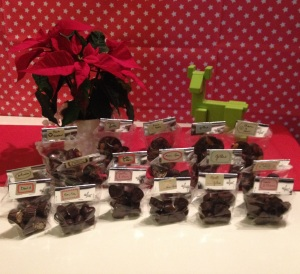 Chocolats emballés pour les cadeaux de Noël