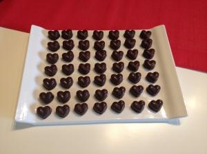 Chocolats noir au caramel au beurre salé