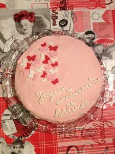 Gâteau à la fraise avec nappage au mascarpone