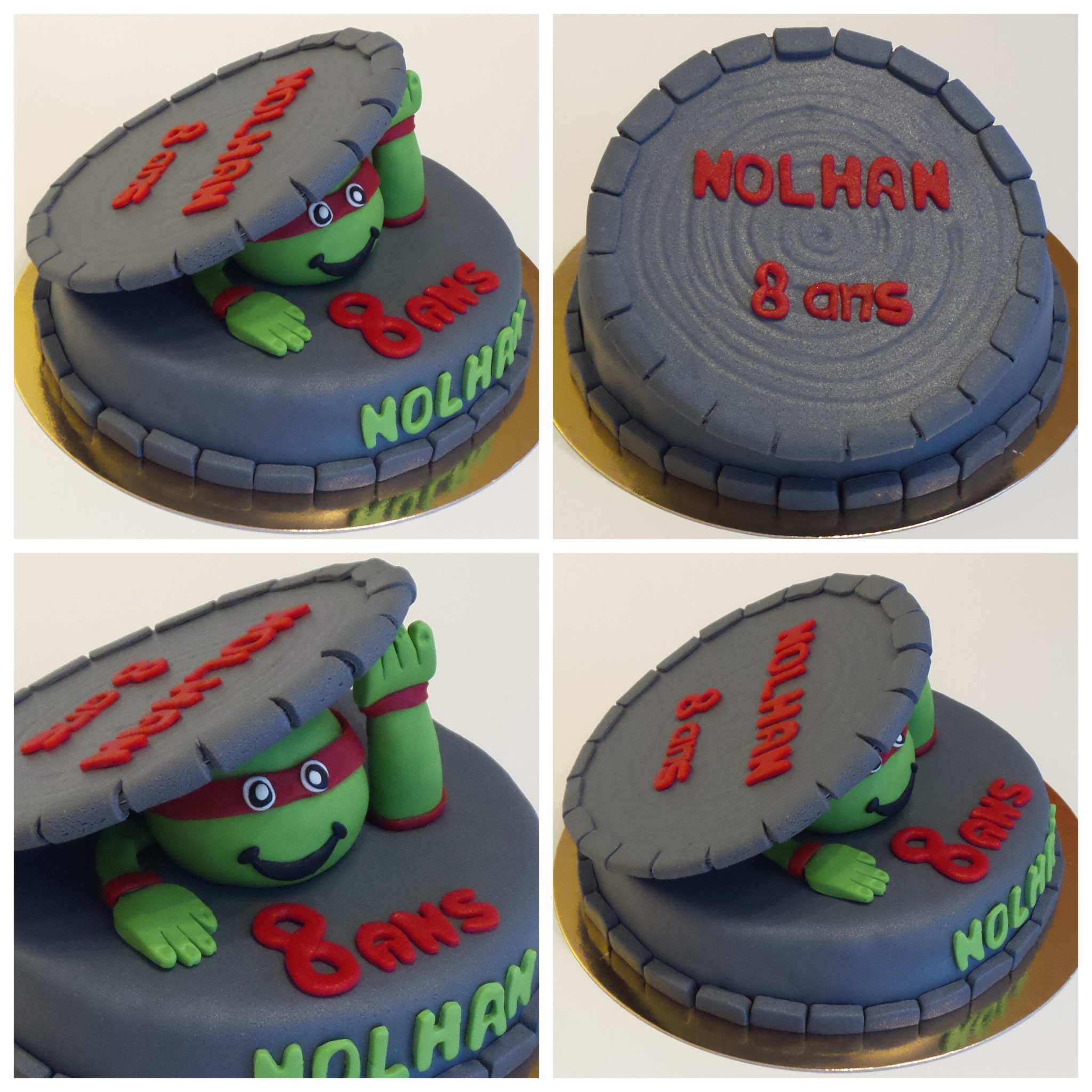 Gateau tortue ninja michelangelo home baking for you - Michaelangelo tortue ninja ...