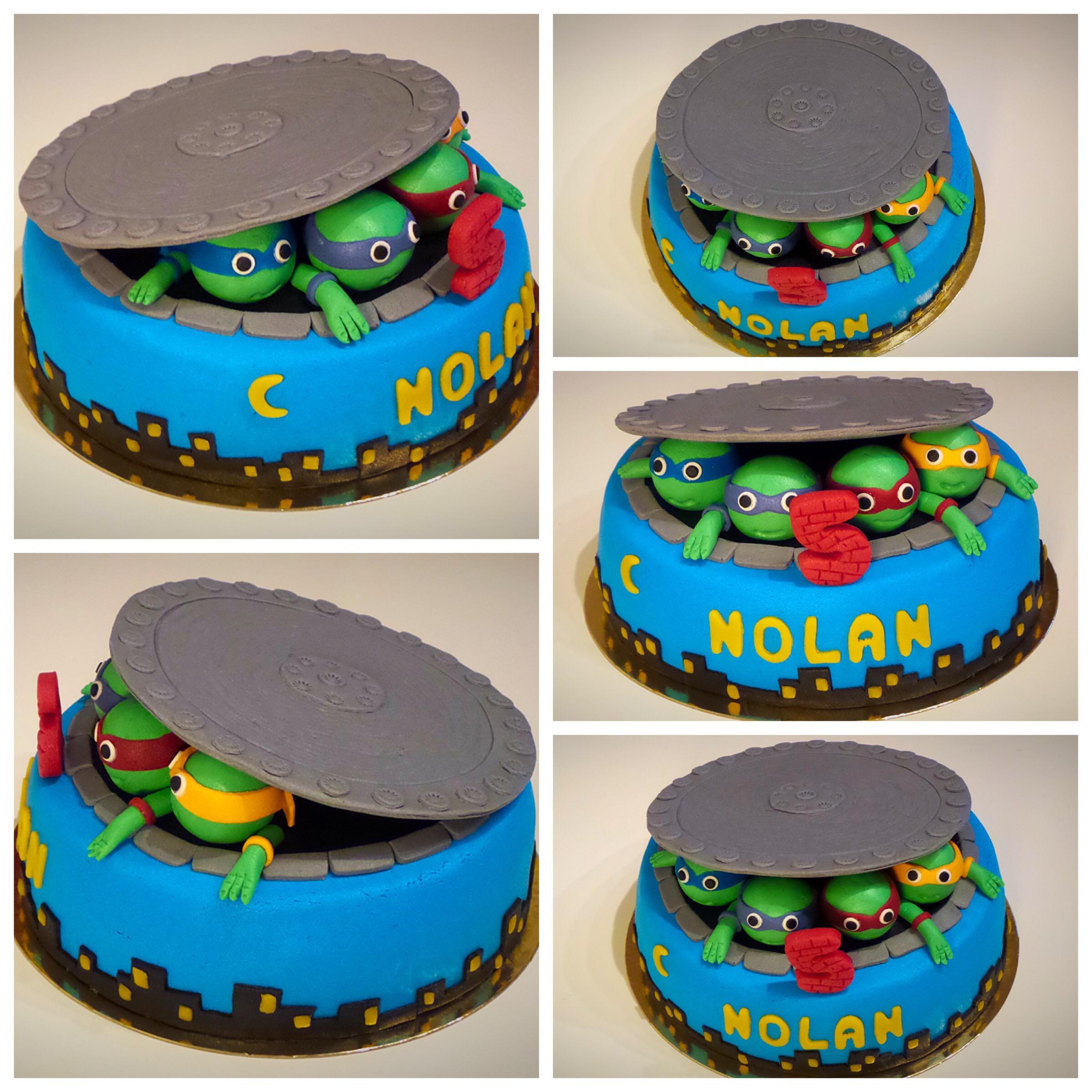 Decoration de gateau tortue ninja